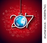 2017 new year infographic and... | Shutterstock .eps vector #438896761