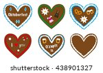 gingerbread heart vector... | Shutterstock .eps vector #438901327
