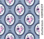 seamless vintage pattern for... | Shutterstock .eps vector #438908359