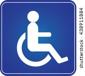 handicap parking or wheelchair... | Shutterstock .eps vector #438911884