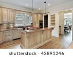 kitchen in new construction home | Shutterstock . vector #43891246