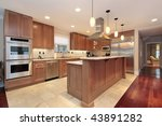 kitchen with two tiered island | Shutterstock . vector #43891282