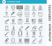36 line business office icons.... | Shutterstock .eps vector #438914551