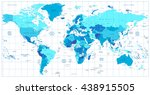 detailed world map in colors of ... | Shutterstock .eps vector #438915505