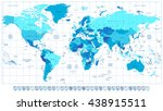 detailed world map in colors of