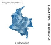 colombia map in geometric... | Shutterstock .eps vector #438919045