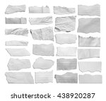 collection of white torn paper... | Shutterstock . vector #438920287
