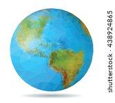 world globe vector illustration. | Shutterstock .eps vector #438924865