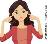 illustration of a teenage girl... | Shutterstock .eps vector #438926431
