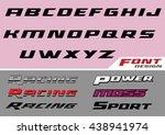 racing font design | Shutterstock .eps vector #438941974