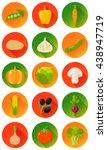 vegetable vegetables set flat... | Shutterstock .eps vector #438947719