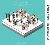 isometric business people... | Shutterstock .eps vector #438955825