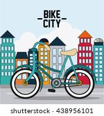 classic bicycle. bike and city... | Shutterstock .eps vector #438956101