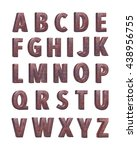 3d rendered grunge alphabets on ... | Shutterstock . vector #438956755