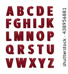 3d rendered grunge alphabets on ... | Shutterstock . vector #438956881