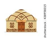 vector yurt cartoon... | Shutterstock .eps vector #438958315