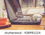 shopping online | Shutterstock . vector #438981124