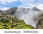 steam rising from the crater la ...   Shutterstock . vector #439002361