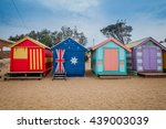 brighton beach located in the... | Shutterstock . vector #439003039