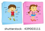 boy and girl with different... | Shutterstock .eps vector #439003111