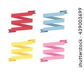 set design four different color ... | Shutterstock .eps vector #439003699