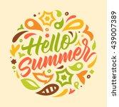 summer calligraphy  handwritten ... | Shutterstock .eps vector #439007389