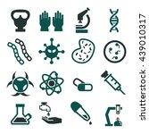 biohazard  toxic icon set | Shutterstock .eps vector #439010317