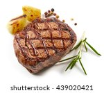 Grilled Beef Steak With Spices...