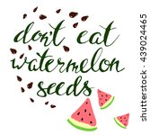 vector watermelon and seeds.... | Shutterstock .eps vector #439024465