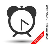 alarm clock icon. flat logo of...