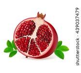 half juicy pomegranate fruit... | Shutterstock .eps vector #439037479