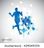 vector illustration  running... | Shutterstock .eps vector #439049254