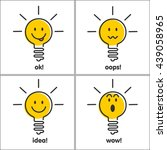 ideas  emotions. light bulb... | Shutterstock .eps vector #439058965