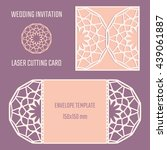 diy laser cutting vector... | Shutterstock .eps vector #439061887