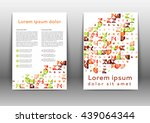 abstract color brochure design... | Shutterstock .eps vector #439064344