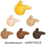right pointing backhand index.... | Shutterstock .eps vector #439075525