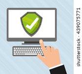 security system  design    Shutterstock .eps vector #439075771