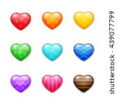 set of colourful realistic... | Shutterstock .eps vector #439077799