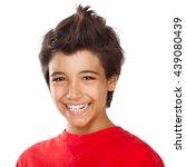 portrait of a cute teen boy... | Shutterstock . vector #439080439