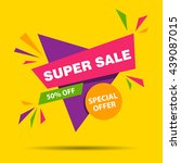 vector illustration of a super... | Shutterstock .eps vector #439087015