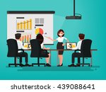 business meeting. presentation... | Shutterstock .eps vector #439088641