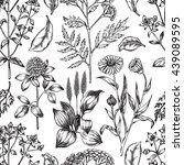 seamless decorative pattern... | Shutterstock .eps vector #439089595