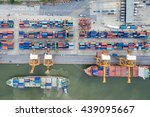 aerial view of industrial... | Shutterstock . vector #439095667