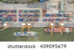 aerial view of industrial... | Shutterstock . vector #439095679