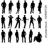 young people silhouettes | Shutterstock .eps vector #43909729