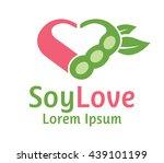 vegan soy food logo flat design   Shutterstock .eps vector #439101199