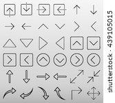 arrow icon set vector...
