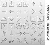 arrow icon set vector... | Shutterstock .eps vector #439105327