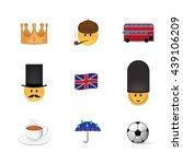 set of english emoticon vector... | Shutterstock .eps vector #439106209