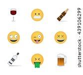 set of drink emoticon vector...   Shutterstock .eps vector #439106299